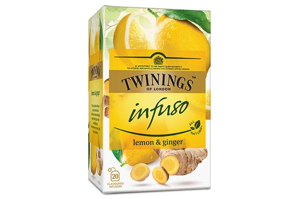 grönt te ingefära citron